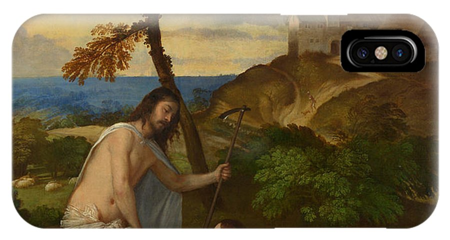 Noli Me Tangere IPhone X Case featuring the painting Noli Me Tangere by Titian