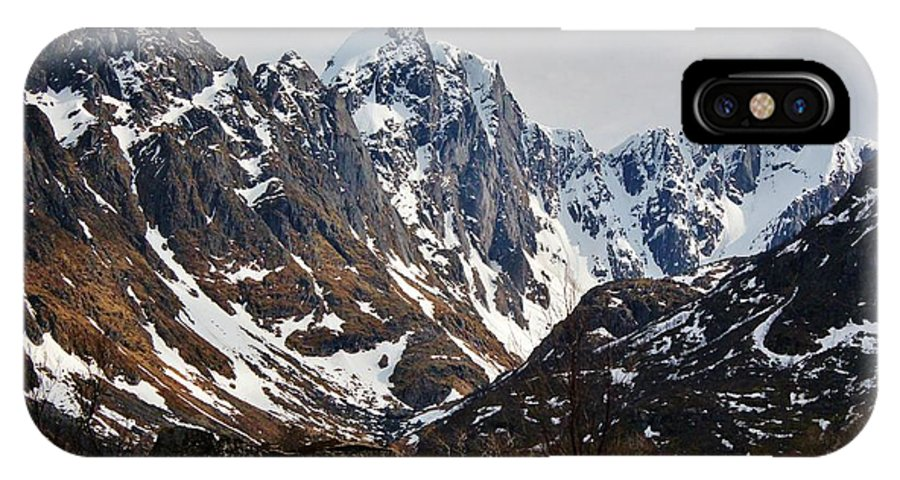 Norway IPhone X Case featuring the photograph Norse Spring Mountains by David Broome