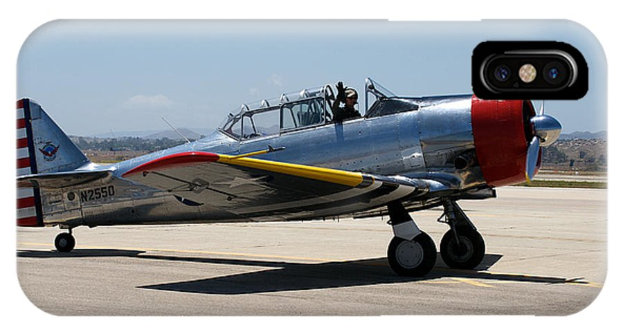 1944 IPhone X Case featuring the photograph North American Snj-5 2 by Richard J Cassato
