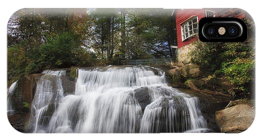 Mill Shoals Falls IPhone X / XS Case featuring the photograph North Carolina Waterfall by Jill Lang