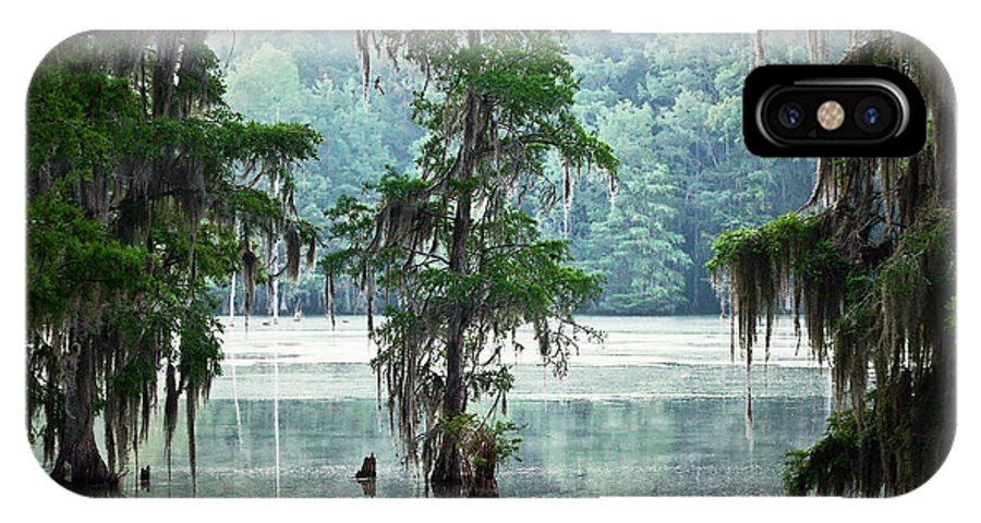 Swamp IPhone X Case featuring the photograph North Florida Cypress Swamp by Rich Leighton