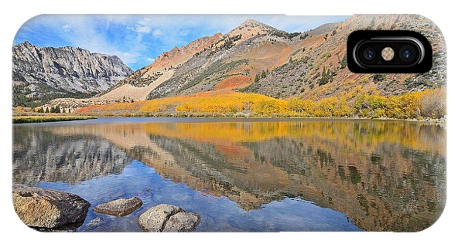 North Lake IPhone X Case featuring the photograph North Lake Reflections by Brandon Yoshizawa