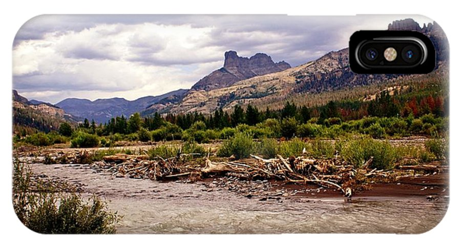 Rivers IPhone X Case featuring the photograph North Of Dubois 3 by Marty Koch