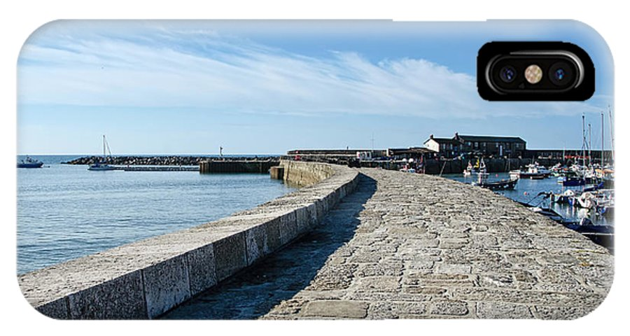 Lyme-regis IPhone X Case featuring the photograph North Wall - Lyme Regis Harbour 2 by Susie Peek