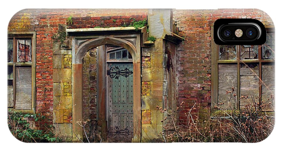 Architecture IPhone X Case featuring the photograph North Wing Porch by Susan Tinsley