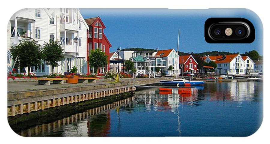 Norway Waterfront IPhone X Case featuring the photograph Norway Waterfront by Keith Lundquist