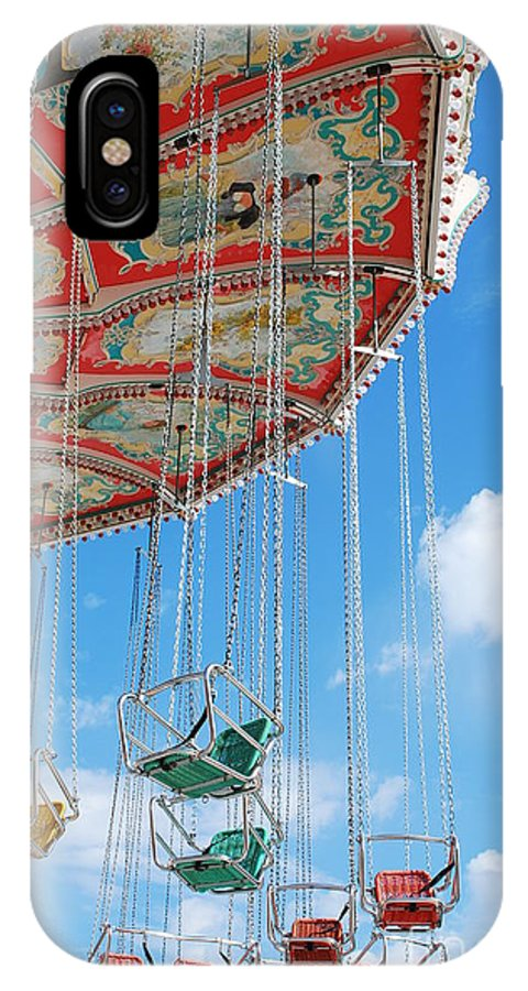 Chairoplane IPhone X / XS Case featuring the photograph Nostalgic Chairoplane by Karin Stein