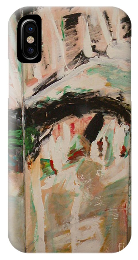 Time IPhone X Case featuring the painting Nostalgies Of Venice by Fereshteh Stoecklein
