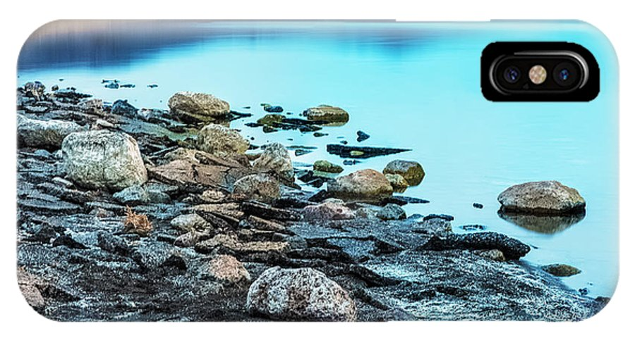 Lakes IPhone X Case featuring the photograph Not A Ripple by Nancy Marie Ricketts