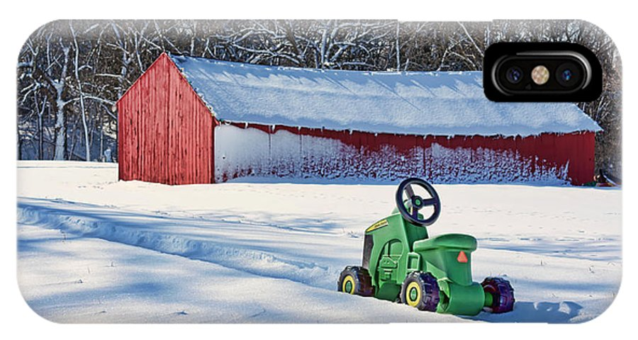 Loafing Sheds IPhone X Case featuring the photograph Nothing Runs Like A Deere #1 by Nikolyn McDonald