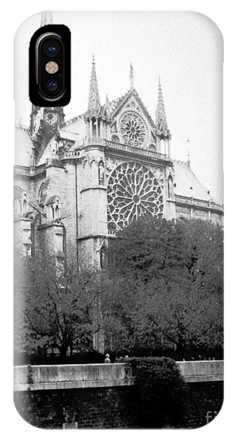 Rose Window IPhone X Case featuring the photograph Notre Dame . Paris France by Patricia Januszkiewicz