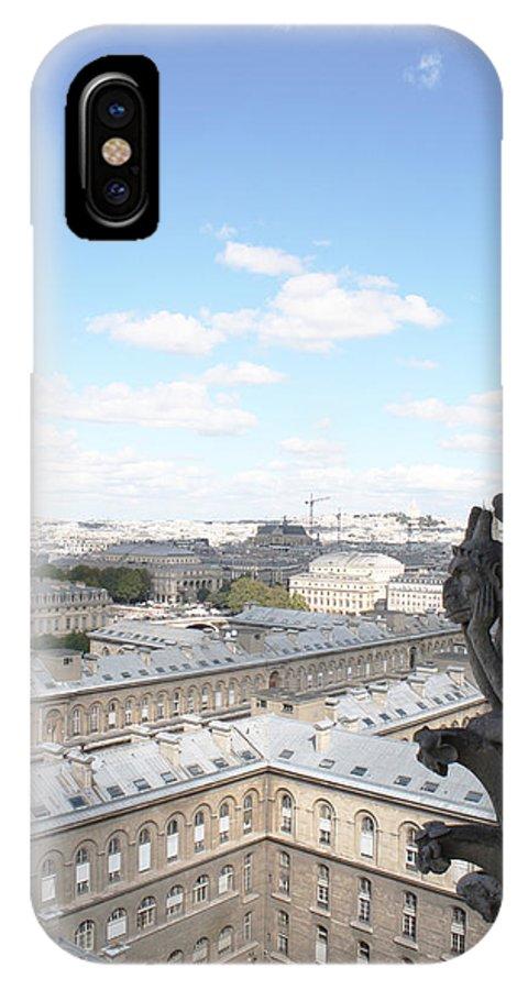 Notre Dame IPhone X Case featuring the photograph Notre Dame 2 Paris France Landscape by Bridget Brummel