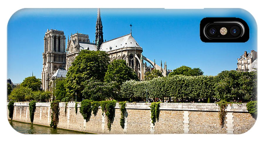 Notre Dame IPhone X Case featuring the photograph Notre Dame Cathedral And The Seine by Anthony Doudt