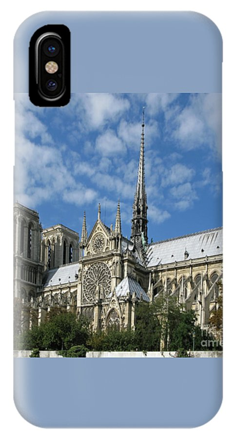 Notre Dame IPhone X Case featuring the photograph Notre Dame Cathedral by Ann Horn