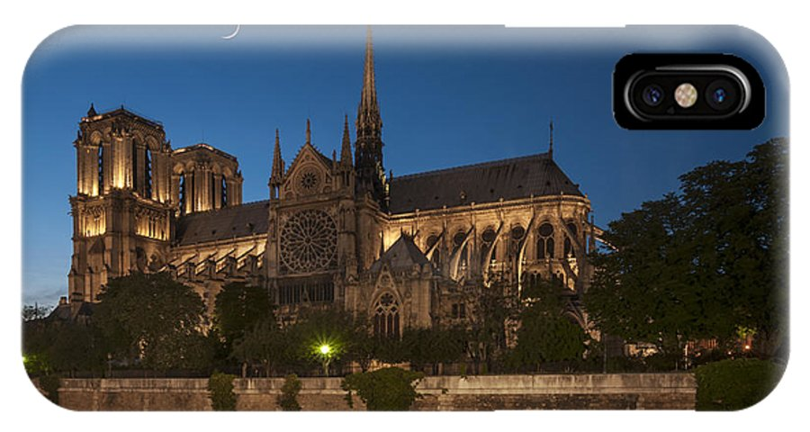 Notre Dame IPhone X Case featuring the photograph Notre Dame Cathedral by Ayhan Altun