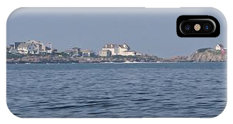 York Maine IPhone X Case featuring the photograph Nubble Lighthouse From Long Sands Beach Panorama by Michael Saunders