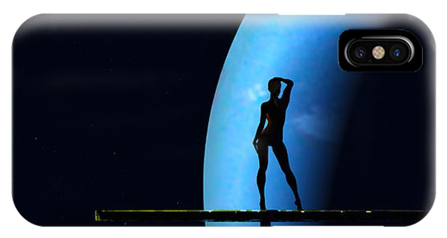 Scifi IPhone X Case featuring the digital art Nude Amongst The Stars... by Tim Fillingim