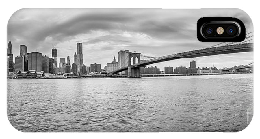 New IPhone X Case featuring the photograph Nyc Landscape by Luca Venturelli