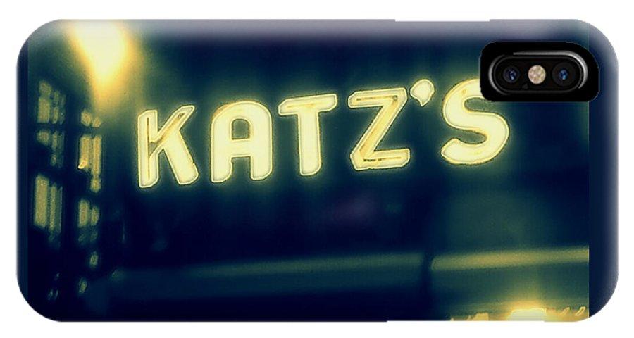 Landmark IPhone X Case featuring the photograph Nyc's Famous Katz's Deli by Paulo Guimaraes