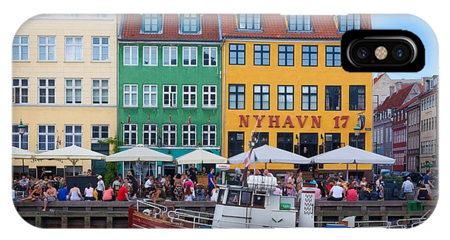 Copenhagen IPhone X Case featuring the photograph Nyhavn 17 by Inge Johnsson