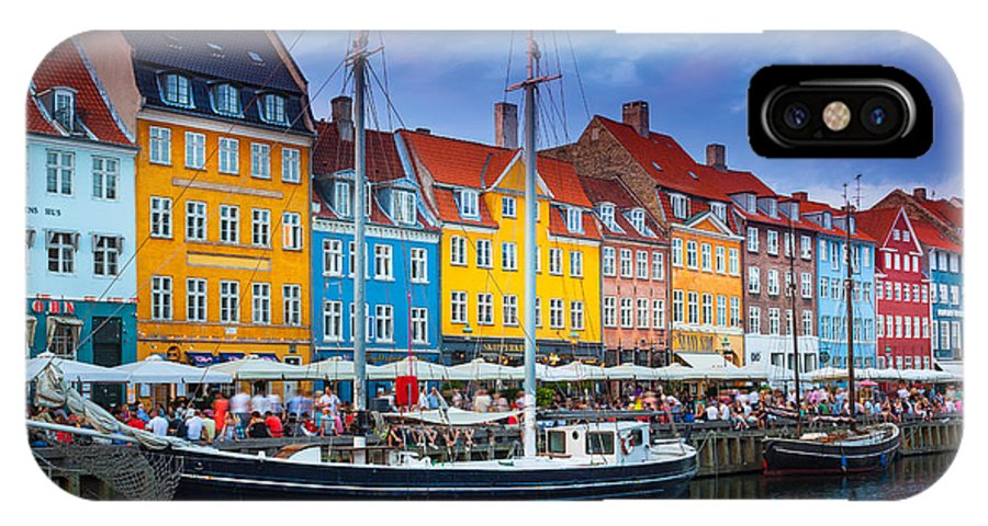 Copenhagen IPhone X Case featuring the photograph Nyhavn Canal by Inge Johnsson