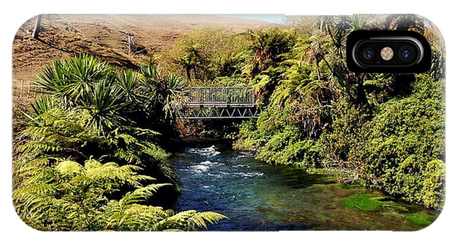 Adventure IPhone X Case featuring the photograph Nz Bridge by Les Cunliffe