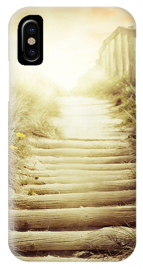 Adventure IPhone X Case featuring the photograph Nz Walkway by Les Cunliffe