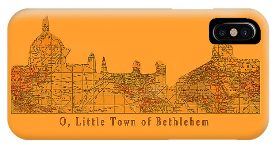 Little Town IPhone X Case featuring the digital art O Little Town Of Bethlehem by Sarah Vernon