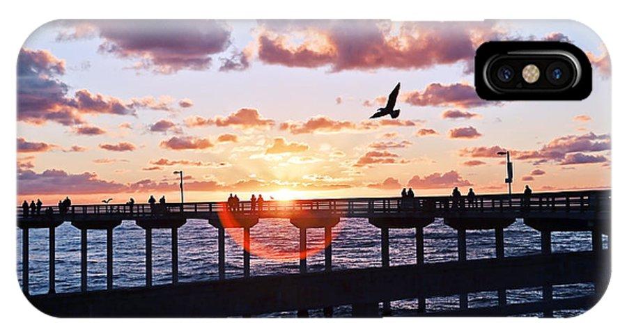 Art IPhone X Case featuring the photograph Ob Pier by Gigi Ebert