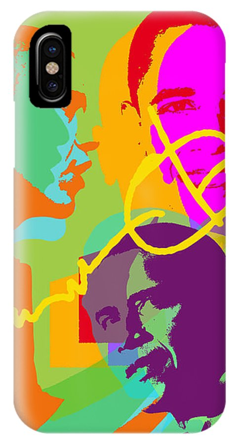 Obama IPhone X Case featuring the digital art Obama by Jean luc Comperat