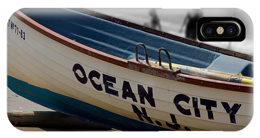 Ocean City New Jersey IPhone X Case featuring the photograph Ocean City Nj Iconic Life Boat by Tom Gari Gallery-Three-Photography