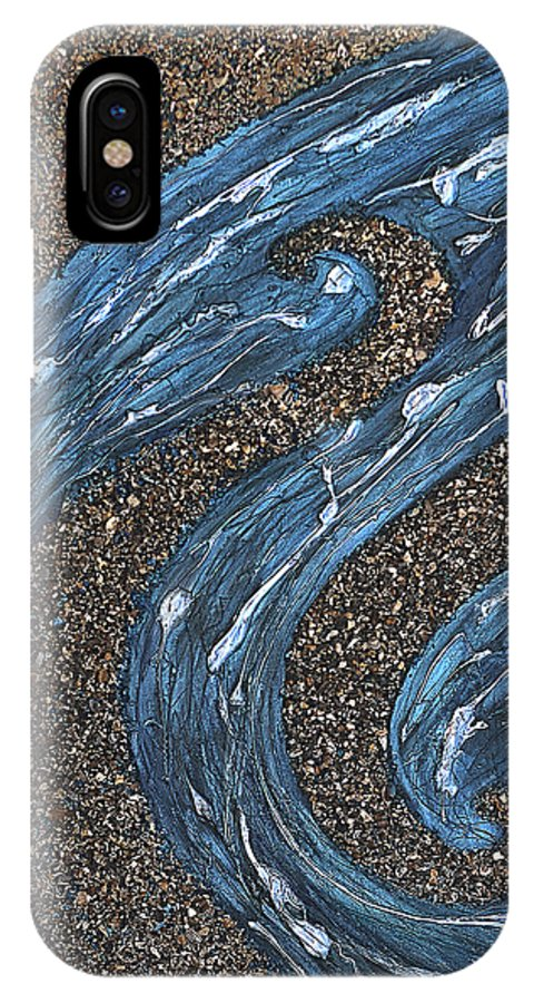 Ocean IPhone X Case featuring the painting Ocean Dance by Shabnam Nassir