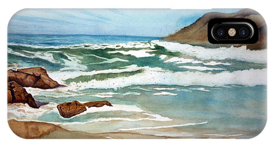 Rick Huotari IPhone Case featuring the painting Ocean Side by Rick Huotari