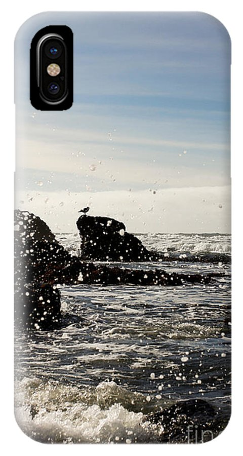 Ocean IPhone X Case featuring the photograph Ocean Splash by Tim Tolok