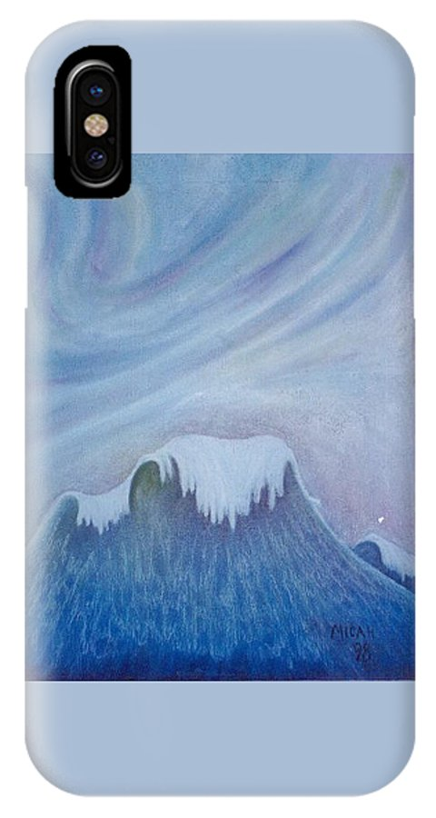Ocean IPhone X Case featuring the painting Ocean Wave by Micah Guenther