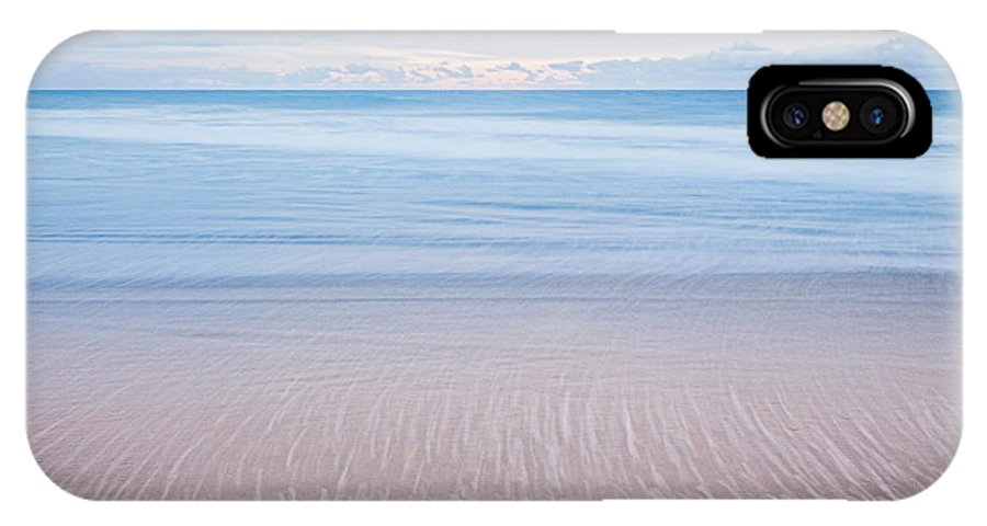 Huntington Beach IPhone X / XS Case featuring the photograph Ocean's Retreat by Tuan Le