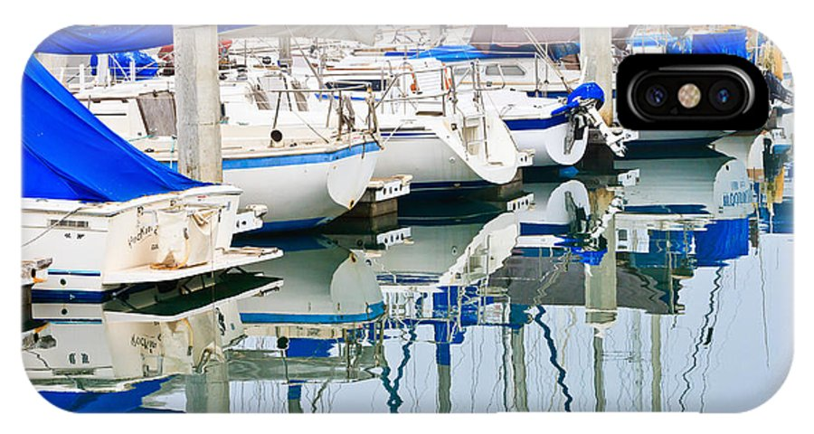 Boats IPhone X / XS Case featuring the photograph Oceanside Harbor 2 by Ben Graham