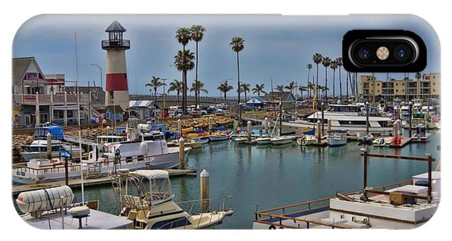 Oceanside IPhone X Case featuring the photograph Oceanside Harbor by Tommy Anderson