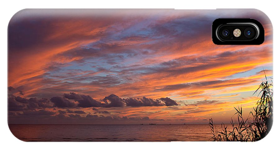 Sunset IPhone X Case featuring the photograph October Colors by Joan McCool