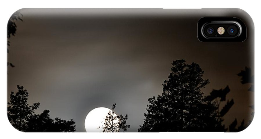 Phil Dionne Photography IPhone X Case featuring the photograph October Full Moon I by Phil Dionne