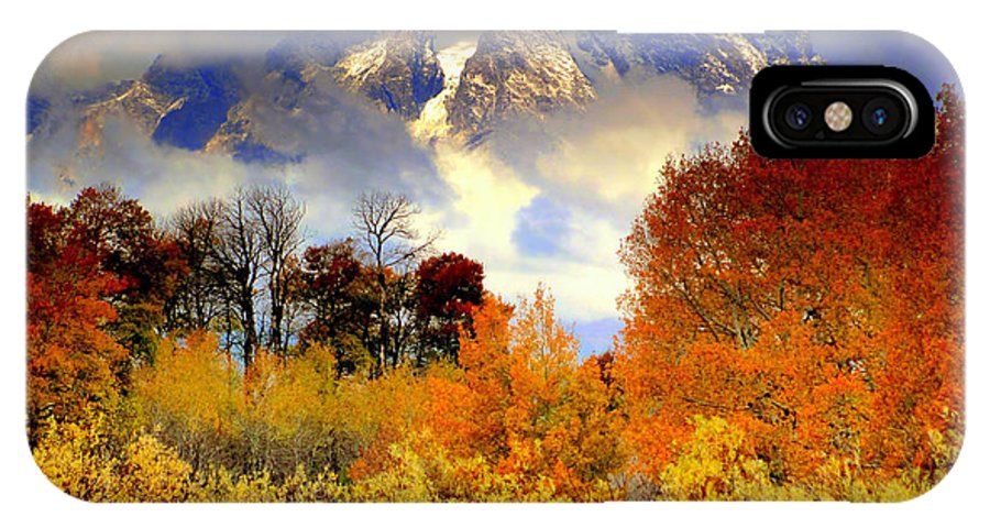 Autumn IPhone X Case featuring the photograph October In Grand Tetons by Irina Hays