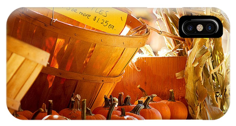 Pumpkin Patch Photograph IPhone X Case featuring the photograph October Market by Jim Garrison