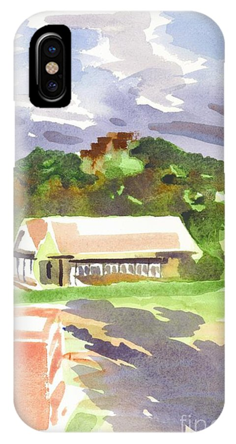 October Shadows At Fort Davidson IPhone X Case featuring the painting October Shadows At Fort Davidson by Kip DeVore