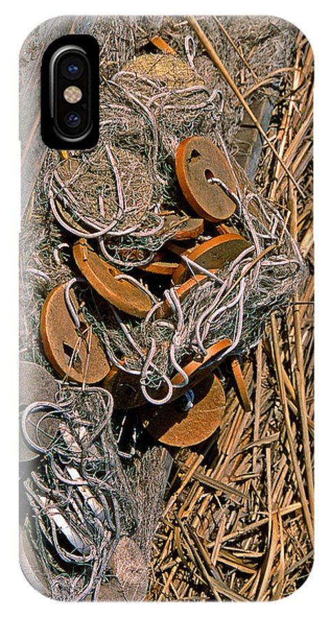 Nets IPhone X Case featuring the photograph Of Nets And Things by Skip Willits