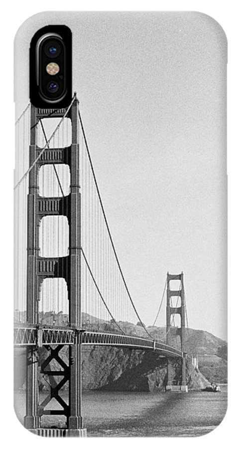 Golden Gate Bridge IPhone X Case featuring the photograph Off Color by Lucia Vicari