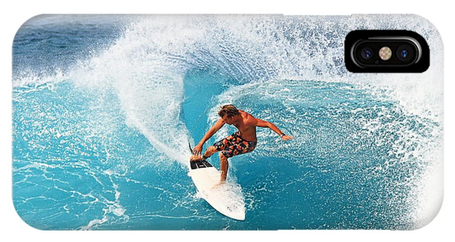 Off The Wall IPhone X Case featuring the photograph Off The Wall - North Shore by Richard Cheski