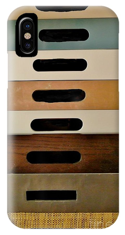Photo IPhone X Case featuring the photograph Office Drawers by Marsha Heiken