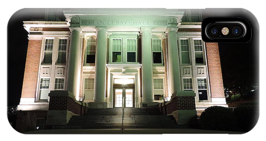 Oglebay Hall IPhone X Case featuring the photograph Oglebay Hall At Night by Cityscape Photography
