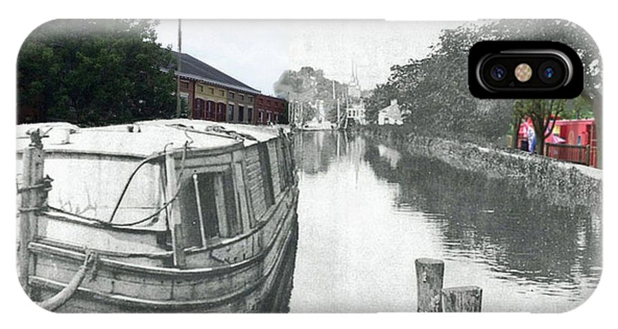 Canal IPhone X Case featuring the photograph Ohio Erie Canal - Retouched by Charles Robinson