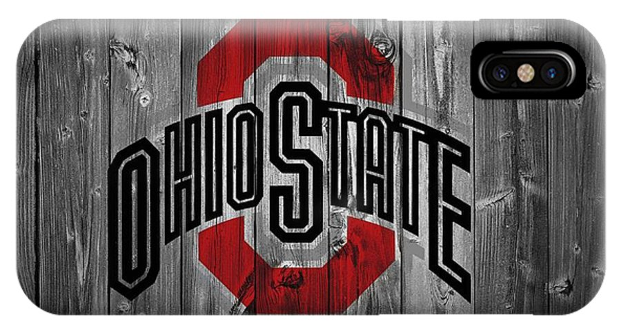 Ohio State University IPhone X Case featuring the digital art Ohio State University by Dan Sproul